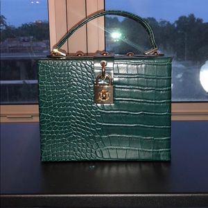 Green Rectangle Handbag